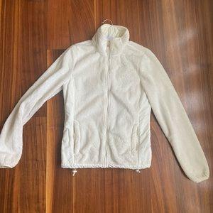 Aeropostale white fuzzy jacket